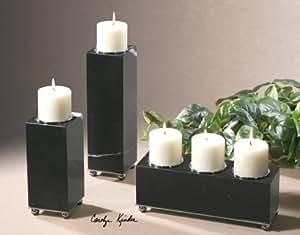 Uttermost Jett Candleholders, Set of 3