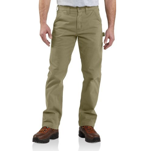 Carhartt Men's Washed Twill Dungaree Relaxed Fit,Dark Khaki,36 x 32