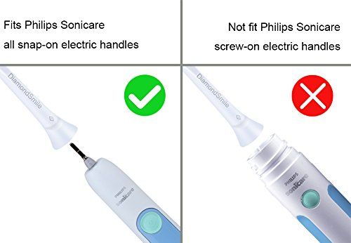 DiamondSmile Replacement Toothbrush Heads for Philips Sonicare Plaque Control HX9028/64 8 Pack,fits Plaque Control,Gum Health,DiamondClean,FlexCare,HealthyWhite and More Sonic Snap-On Brush Handles by Lanveda (Image #3)