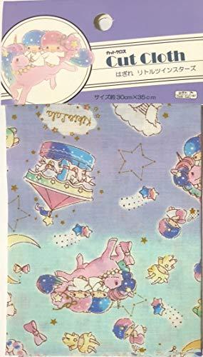 Sanrio Little Twin Stars Japan Cut Cloth 35×30cm Cotton Craft Fabric Patchwork Scrapbooking (Purple Light Blue)