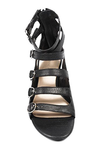 NINE WEST - Sandalia De Gladiador Para Mujer NWUSMAN BLACK Tacón: 2.5 cm