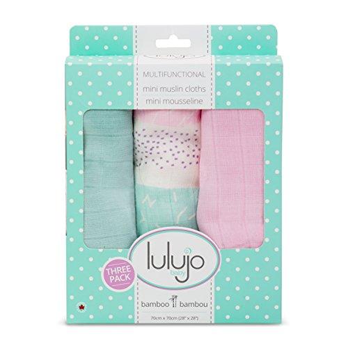 lulujo Baby Piece Cotton Muslin Security Blankets