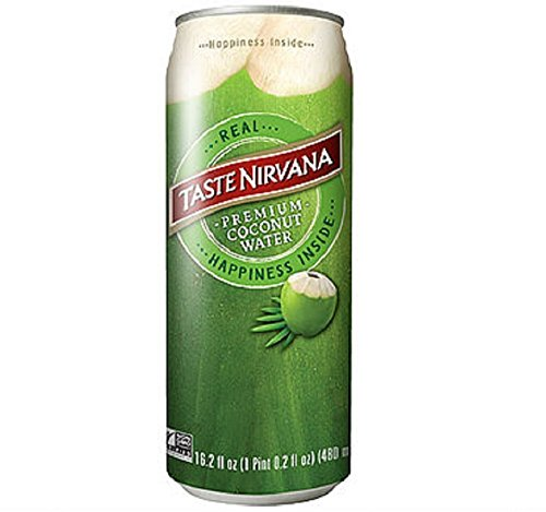Taste Nirvana Real Coconut Water, Premium Coconut Water, 16.2 Ounce Cans (Pack of 12) (Taste Of The Best)