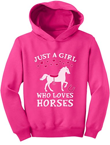 Rider Pink Sweatshirt - Tstars - Just A Girl Who Loves Horses Horse Lover Gift Toddler Hoodie 5/6 Pink