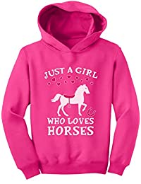 Tstars - Just A Girl Who Love Horses Horse Lover Gift Toddler Hoodie