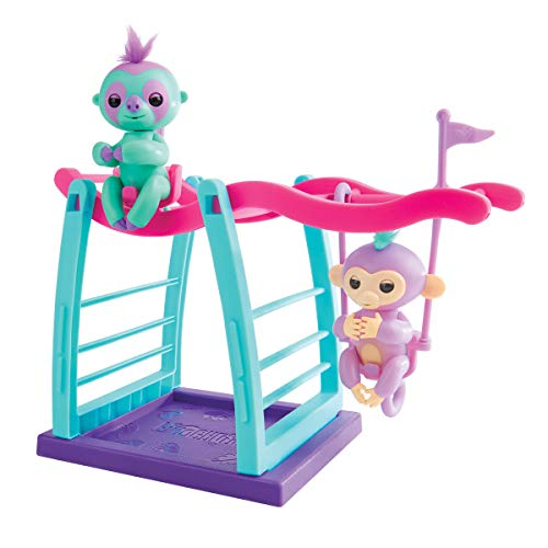 Early Black Friday Deal: Fingerlings Interactive Savannah the Monkey/Clara the Sloth Fingerlings Monkey Bar & Swing Playset (5+)