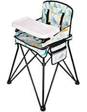 VEEYOO Baby High Chair with Removable Tray - Portable High Chair for Eating and Feeding, Indoor and Outdoor, Compact Fold, Geometry Print