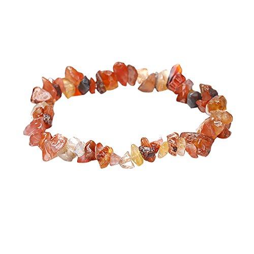 - Sinfu Women Irregular Natural Crystal Crushed Stone Handmade 5-8mm Bracelet Gemstone Chip Beads Stretchy Bracelet Healing Reiki (B)