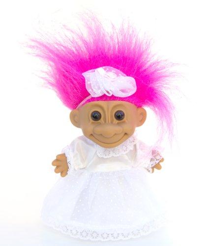 Russ Berrie Good Luck Troll Bride Girl, 6
