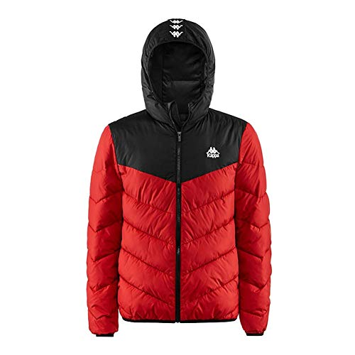 Kappa Mens Authentic Amarit Padded Down Jacket Red/Black M