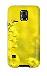 High Impact Dirt/shock Proof Case Cover For Galaxy S5 (complete Yellow Flowers)