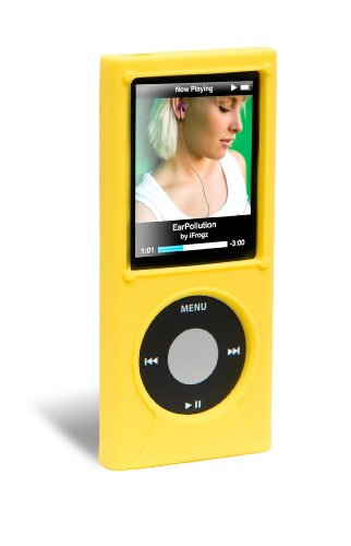 iFrogz iPod Nano 4G Wrapz Silicone Case (Yellow) (Ipod Nano Ifrogz)