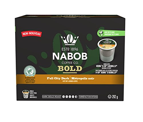 NABOB Full City Dark Coffee Pods, 292g, 30 Count {Imported from Canada}