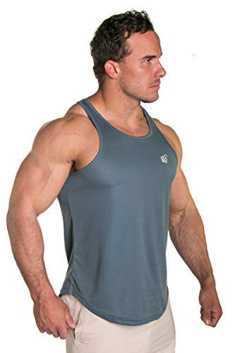 Jed North Mens Performance Mesh Bodybuilding Workout T-Shirt