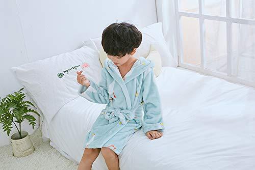 MEYINI Ni/ños Bata de Ba/ño Algod/ón Muchachos Ni/ñas Batas Encapuchado C/ómodo Toalla Pijamas Dibujos Animados Mangas Largas Ropa de Casa
