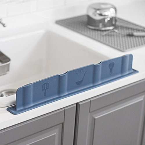 Mia Home Silicon Kitchen Sink Water Splash Guard (Grey)