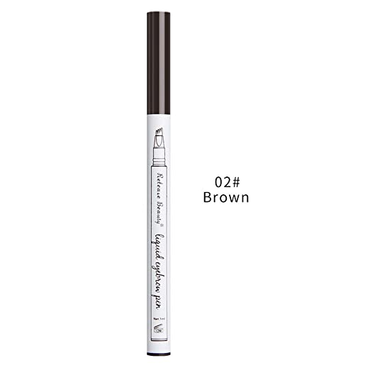 4d54e0ad508 Amazon.com: Hot Sale!UMFun💗💗 Waterproof Eye Brow Eyeliner Eyebrow Pen  Pencil With Brush Makeup Cosmetic Tool 12.6cm (Brown): Clothing