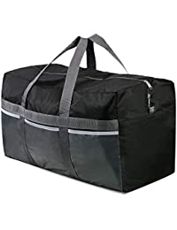 Extra Large Duffle Bag Lightweight, 96L WaterProof Travel Duffle Bag Foldable for Men Women, Black
