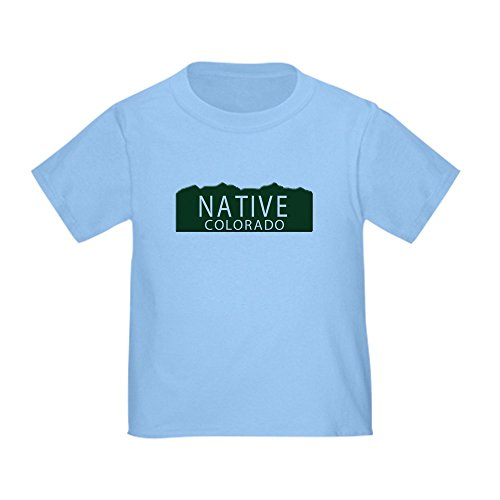 CafePress Native Colorado Toddler T Shirt Cute Toddler T-Shirt, 100% Cotton Baby Blue