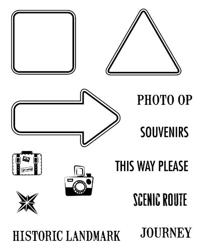 Karen Foster Design 02236, Clear Stamp Set, Road Signs 1 ()