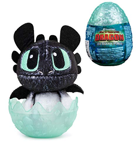 How to Train Your Dragon, Hidden World, Baby Nightlight 3-inch Plush, Cute Collectible Plush Dragon in Egg