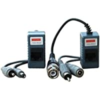 10 Pairs (20 Pcs) Video Audio Power Balun Transceiver BNC to Cat5/6 UTP Cable Cctv