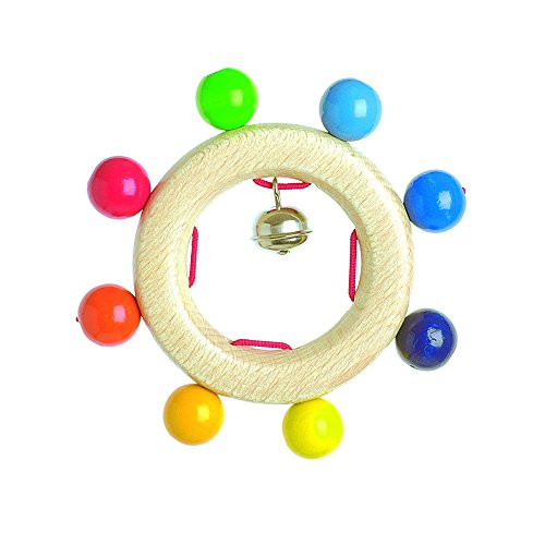 """Heimess Clutching """"Rainbow pearls"""" with 8 Burl Baby Toy"""