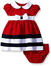 Bonnie Baby Baby-Girls Nautical Dress, Red, 12 Months