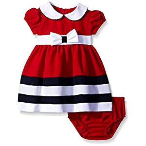 Best Epic Trends 41hGYDxsWaL._SS300_ Bonnie Baby Baby Girls' Peter Pan Collar Nautical Dress and Panty Set