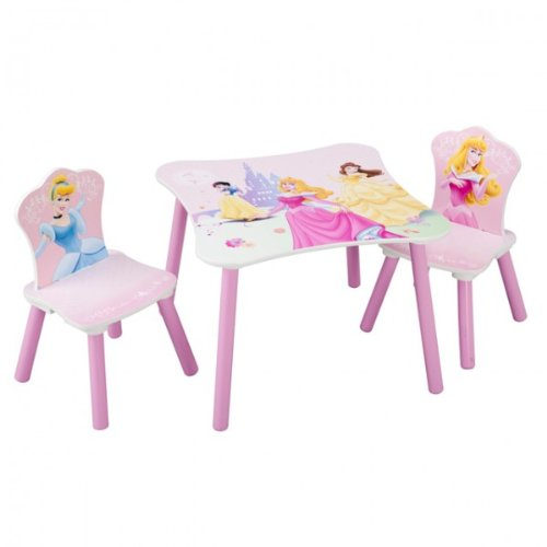 Disney Princess Tisch mit Stühlen 60x60cm Holz Kindersitzgruppe Kindersitzgarnitur NEU