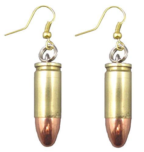 - Set of Two 9 mm Bullet Earrings