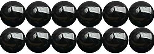 Abalorios de Piedras Semipreciosas Ágatas Y Onix Negra Naturales Bola de 8mm Perlas para Fabricar Joyas Cerca de los 38cm Aprox 46 Piezas