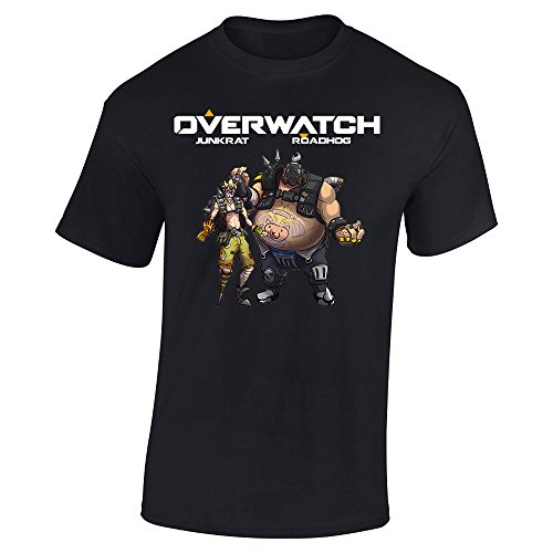 Overwatch Art Roadhog and Junkrat (Large, Black) -  Slicksleek Apparel