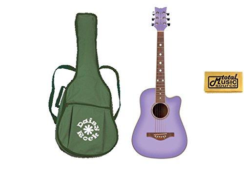 Daisy Rock Widwood Acoustic Short Scale Guitar, Purple Daze, 14-6262, NEW ()