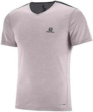SALOMON Cosmic Block SS tee M - Camiseta, Hombre, Gris(Gull Gray/Graphite): Amazon.es: Deportes y aire libre