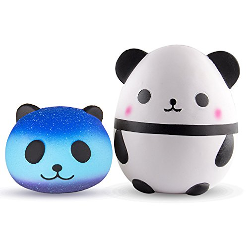 BeYumi Jumbo Squishy Toy, Jumbo Cute Panda Egg with Star Panda Head Cream Scented Easter Squishy Very Slow Rising Kids Toys Doll Gift Stress Relief Toy Decorative Props ()