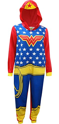 DC Comics Wonder Woman Onesie Union Suit Pajama for women (Medium)