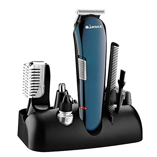 Hair Clipper 5 in 1 Charging Mode Electric Shaver/Nose Hair Profession Cordless Hair Clipper Men's Haircut Kit Suitable for Beards, Hair and Body, with Nose Hair Trimmer