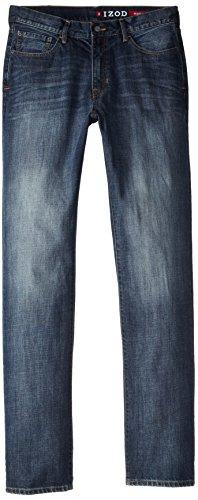 IZOD Men's Big & Tall Relaxed Fit Jean, Patriot Blue, 36x38