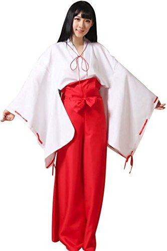 Cute comic Rider [6 pieces] large Miko's cosplay maiden Halloween costume kimono kimono fancy dress costume L XL Miko clothes cosplay hakama Kos men's women's XL size