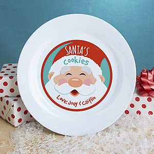 Gifts Engraved Personalized Cookies for Santa Plate