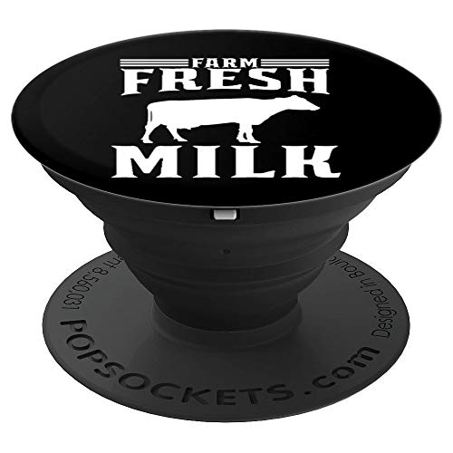 Farm Fresh Milk for Dairy Farmers - PopSockets Grip and Stand for Phones and Tablets