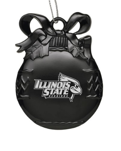 Illinois State Tree (Illinois State University - Pewter Christmas Tree Ornament - Black)
