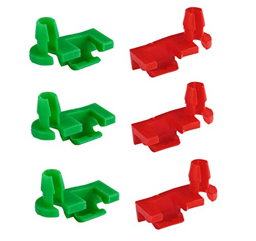 (Dependable Direct (3 Pair) Left and Right Tailgate Handle Rod Clips for 1999-2007 GMC Silverado, Sierra, Chevy - OEM#: 88981030, 88981031)