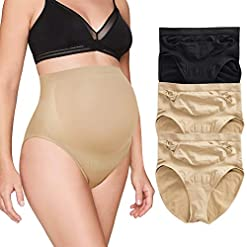 Maternity-Panties-High-Waisted-Pregnancy-Underwear-Belly-Support-Briefs-Over-Bump