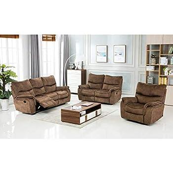 Admirable Amazon Com Home Square 3 Piece Recliner Sofa Set With Lamtechconsult Wood Chair Design Ideas Lamtechconsultcom