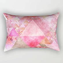 Geometry Cushion Cases 20 X 26 Inches / 50 By 65 Cm Gift Or Decor For Bar Chair Home Theater Kids Girls Home Office - Two Sides