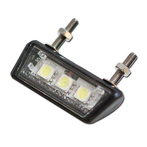 LED Motorrad Kennzeichenbeleuchtung Forty, schwarz, ABS, E-geprüft, 3 SM-LED s, B: 42mm H: 10mm T: 17mm /Stück