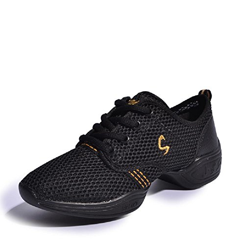 D2C-Beauty-Womens-Summer-Dance-Breathable-Fashion-Sneakers-Black-Gold-9-M-US