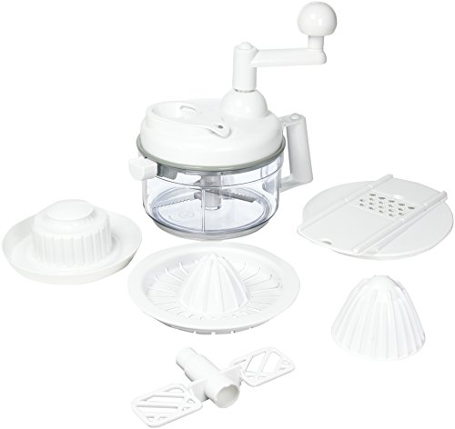 Weston Multi Function 8-Cup Manual Mixer (16-0401-W), Chop and Mix in One Container, 3 Blade Chopper